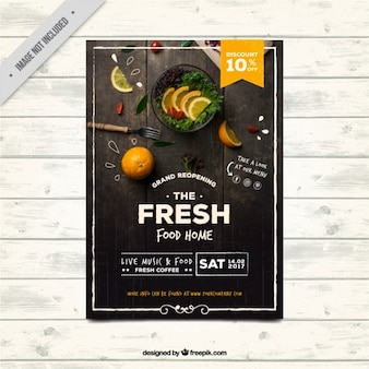 Restaurant brochure in vintage style