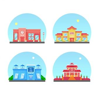 Restaurant building vector illustration