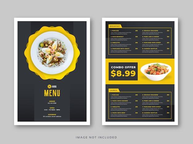 Шаблон меню ресторана кафе с крышкой Premium векторы