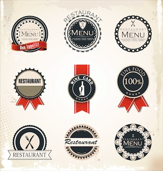 Restaurant and cafe labels