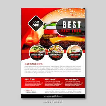 Restaurant company flyer template