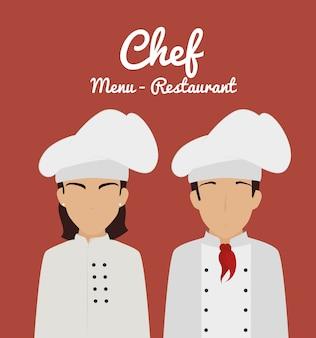 Restaurant design, vector illustration.