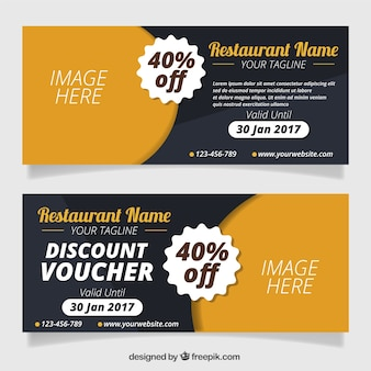 Restaurant discount coupons