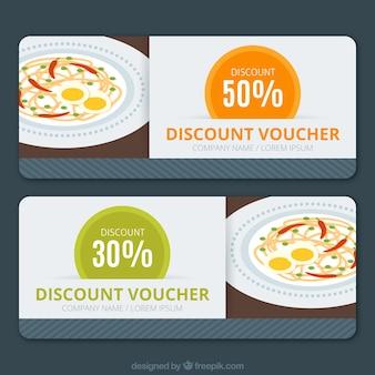 Restaurant discount vouchers
