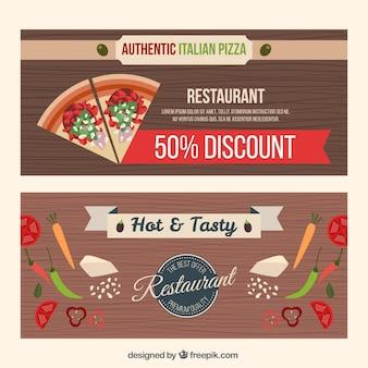 Restaurant discount wooden banners