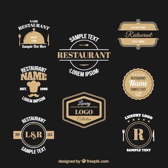 Ristorante elegante logo collection