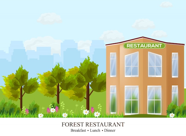 Restaurant facade architecture