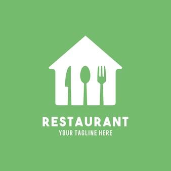 Ресторан плоский дизайн символа логотипа иллюстрации шаблон