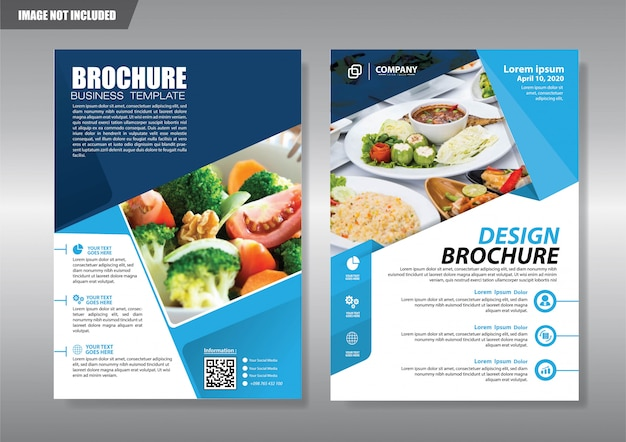 Restaurant flyer with geometric shape