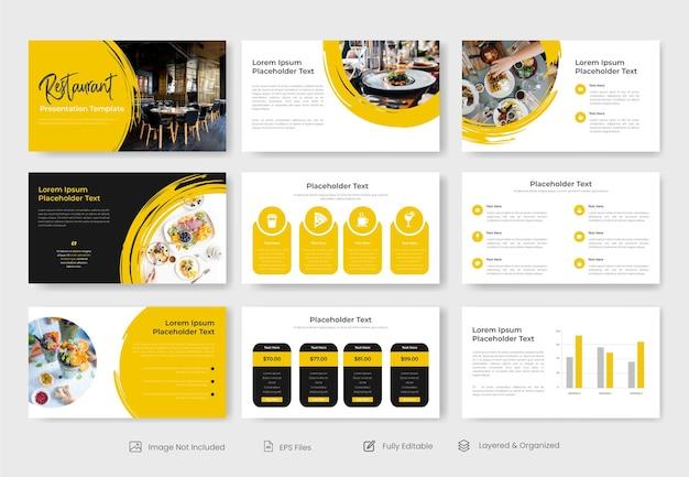Дизайн шаблона бизнес-презентации ресторана