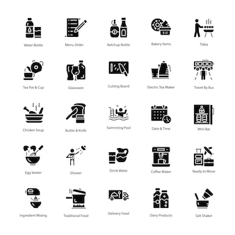 Restaurant and food icons pack