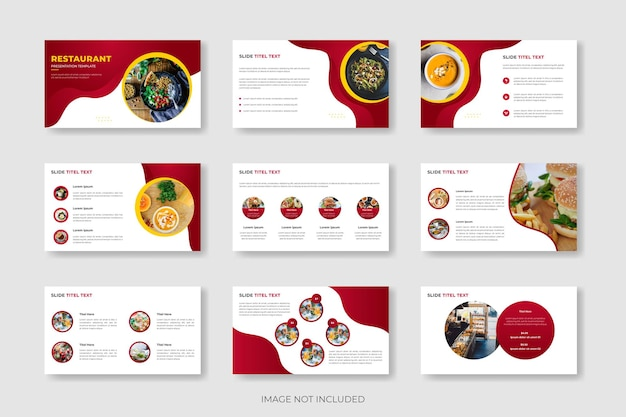 Restaurant food menu presentation template or food menu slide template design