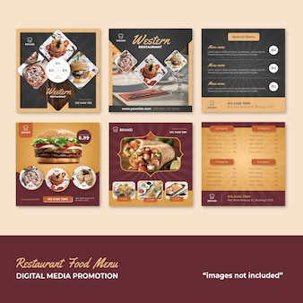 Restaurant food menu social media promotion