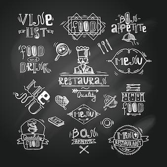 Restaurant label chalkboard