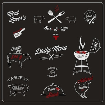 Restaurant label design