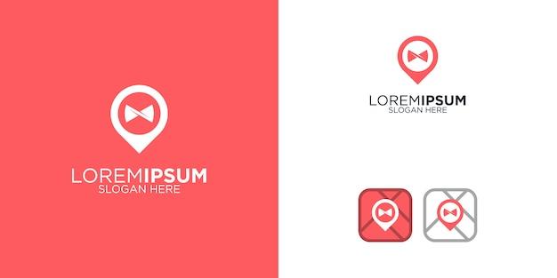 Restaurant location logo design template
