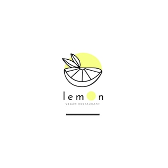 Restaurant logo editorial template