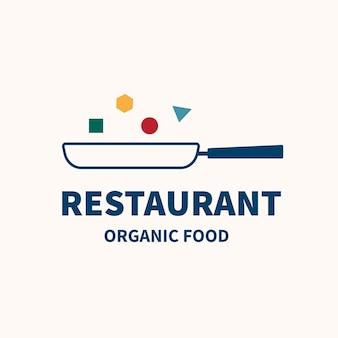 Restaurant logo, food business template for branding design vector