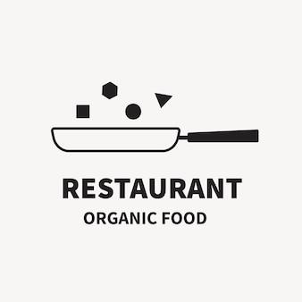 Logo del ristorante, modello di attività alimentare per il vettore di progettazione del marchio