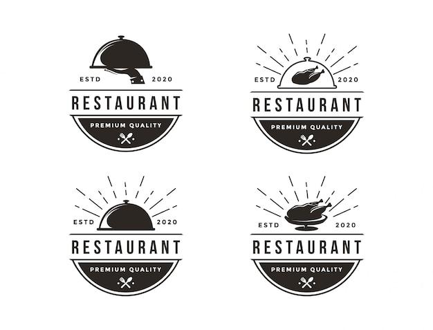 Набор логотипов ресторана, набор иконок логотипов общественного питания
