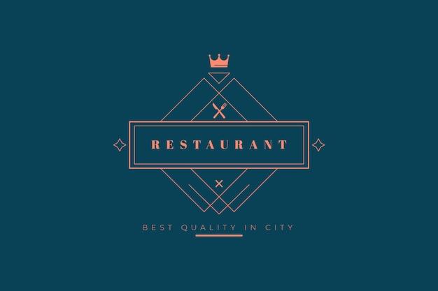 Шаблон логотипа ресторана