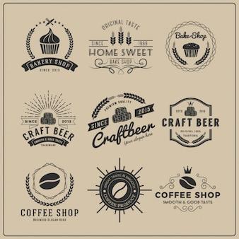 Restaurant logo templates collection Free Vector
