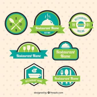 Restaurant logos, green colors