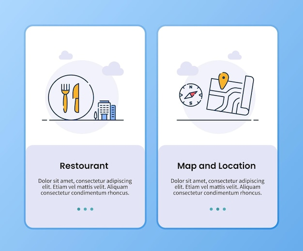 Restaurant map and location campaign for on boarding template