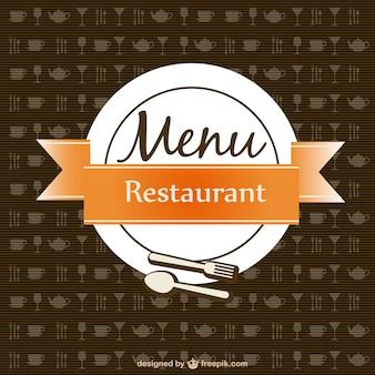 Restaurant menu background with little restaurant icons