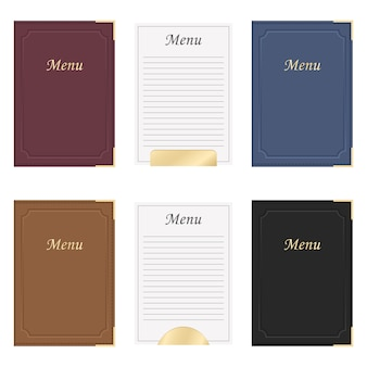 Restaurant menu book design illustration isolated on white background