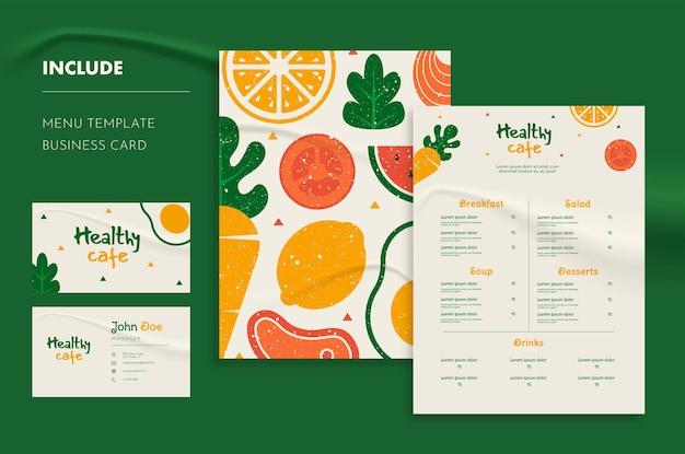 Restaurant menu and business card template
