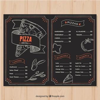 Restaurant menu in blackboard style
