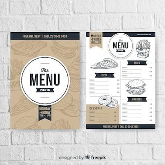 Restaurant menu in vintage style