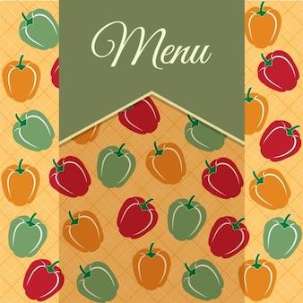 Дизайн меню ресторана со сладким перцем