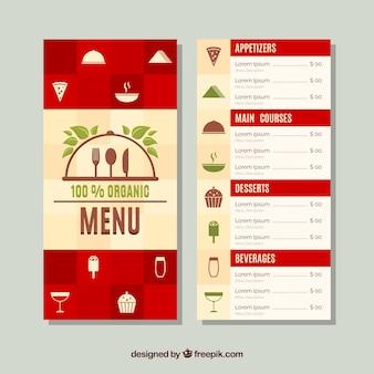 レストランメニュー、有機食品