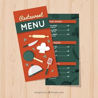 식당 메뉴, 붉은 색
