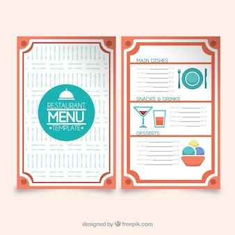 레스토랑 메뉴, 빨간색 프레임