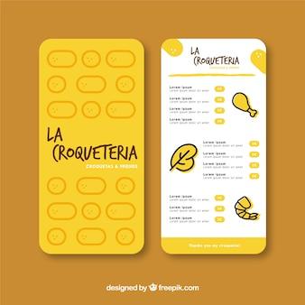 Restaurant menu template in flat design