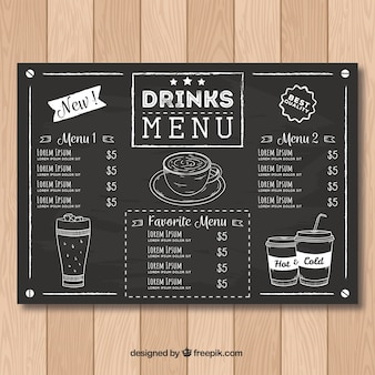 Coffee menu vectors photos and psd files free download for Coffee price list template