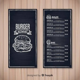 Chalkboard menu vectors photos and psd files free download restaurant menu template with chalkboard style maxwellsz