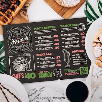 Restaurant menu template with photo