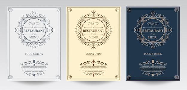 Restaurant menu template.