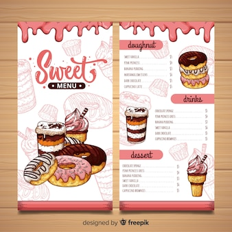 dessert menu vectors photos and psd files free download
