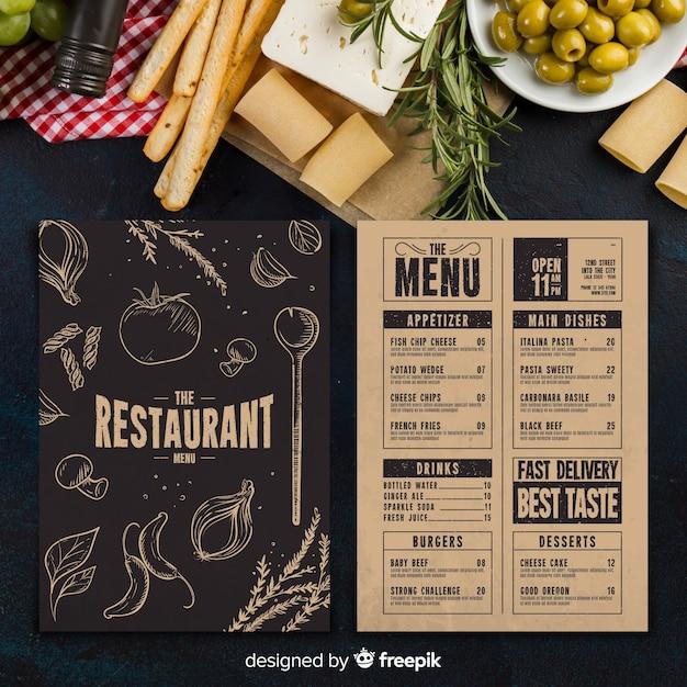 restaurant menu free template