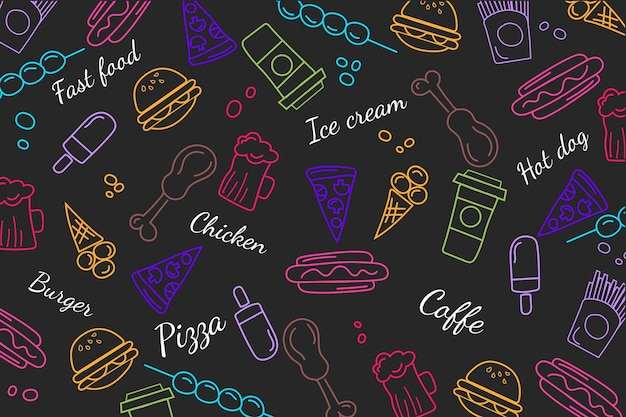 Restaurant mural wallpaper concept