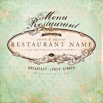 Restaurant old banner baroque art