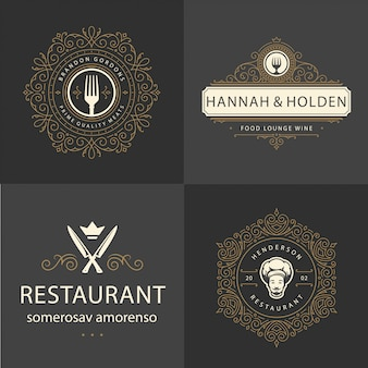 Restaurant ornament logo