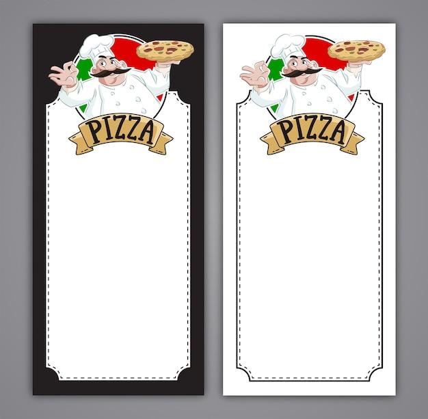 Restaurant pizzeria menu