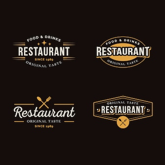 Restaurant retro label collection