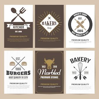 Restaurant retro logo for banner, poster, flyer